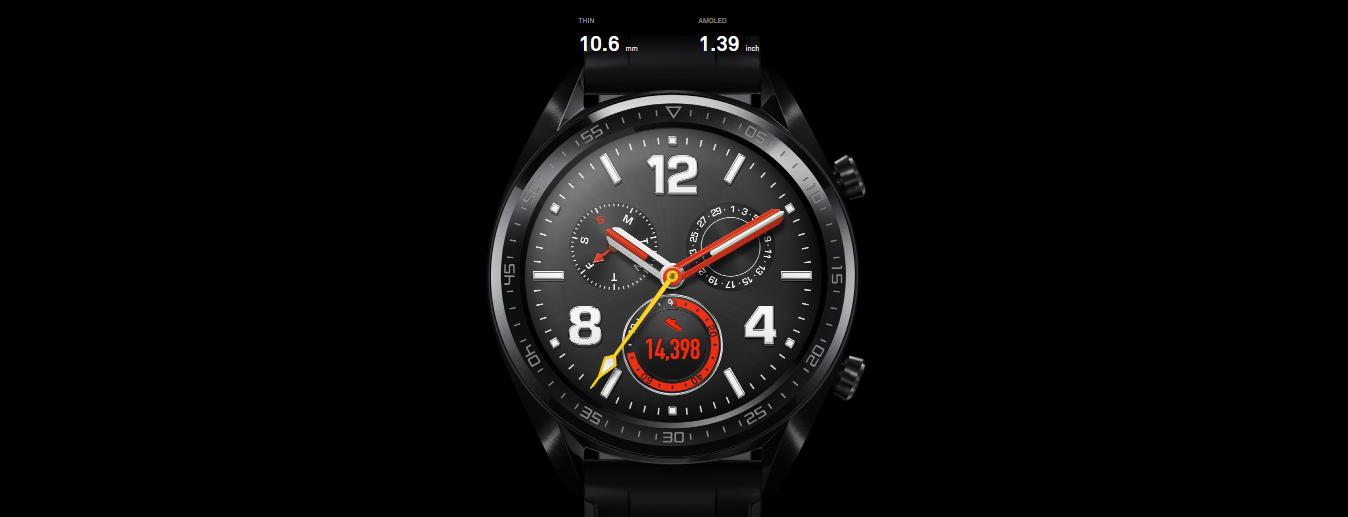 نحيفة. جميلة. قوية.  تتميّز هذه الساعة بقوتها ومرانتها بفضل حافتها الخزفية وهيكلها الغير قابل للصدأ وطبقتها المطلية بالكربون الشبيه بالماس. قياسها لا يتجاوز 10.6 مم وتتميز بشاشة 454x454 AMOLED.