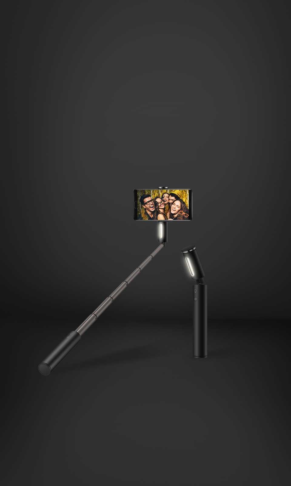عصا طويلة وثابتة، منظر أوسع عصا مكونة من 6 مراحل قابلة للتمديد لما يصل إلى 610 ملم لمنظر أوسع؛ مطلية بسبائك الألمنيوم المؤكسد للحصول على دعم مستقر وقبضة ثابتة.
