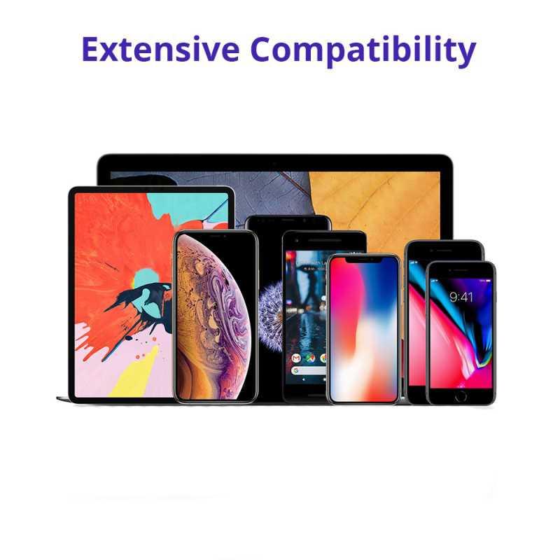 توافق واسع النطاق: لشحن الهواتف والأجهزة اللوحية وأجهزة الكمبيوتر المحمولة وجميع الأجهزة الأخرى التي تعمل بنظام USB.