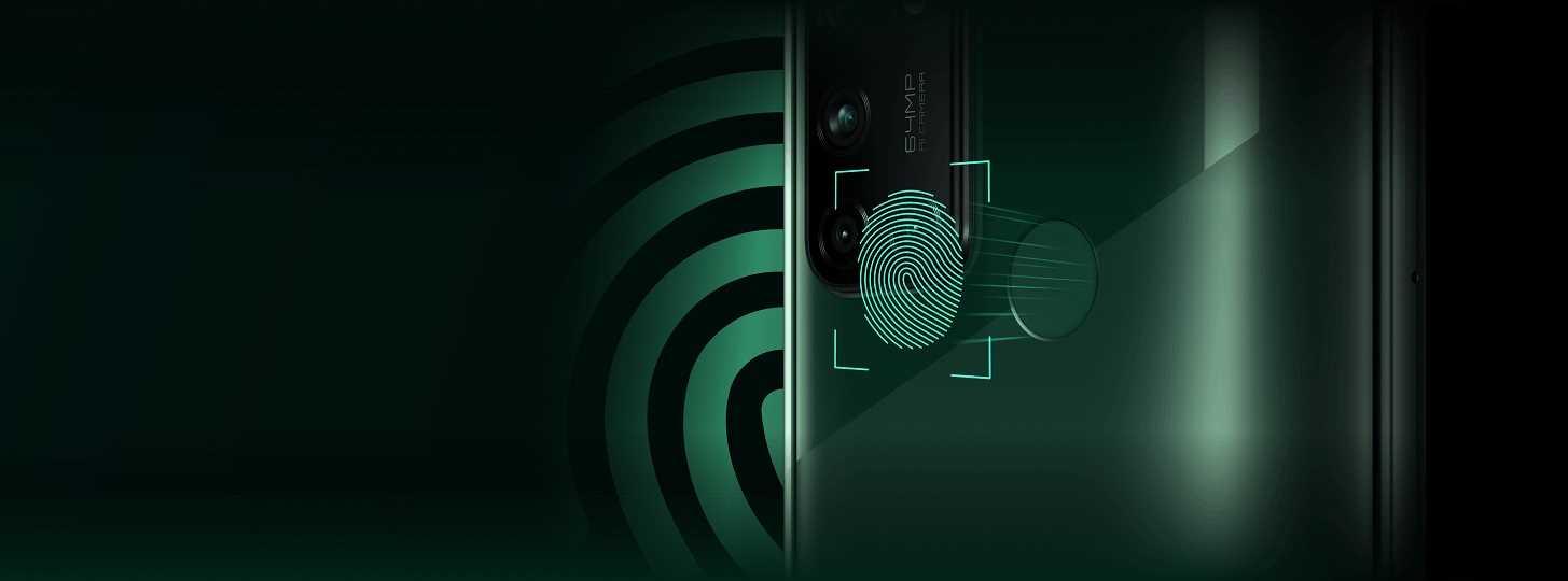 يتميز هاتف realme 7i بوجود بصمة إصبع يمكن من خلالها تأمين المعلومات الخاصة بك وأيضاً فتح الهاتف بسرعة فائقة.