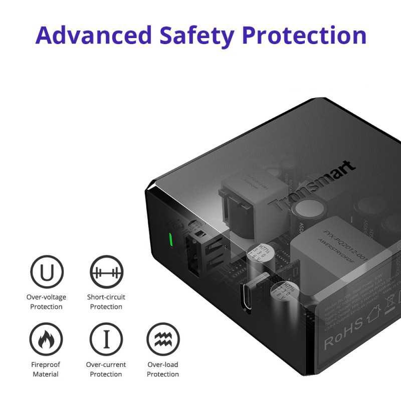 حماية أمان متقدمة: تضمن الحماية المتعددة استقرار وسلامة جهازك مع توفير أقصى سرعة شحن.
