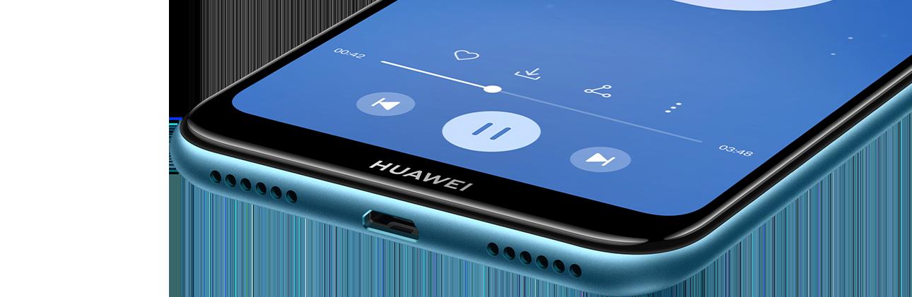 راديو FM مدمج   Histen 5.0   وضع الاحتفال  يمكن لجهاز HUAWEI Y6 Prime 2019 إطلاق صوت إضافي بمقدار 6 ديسيبل³ مع تأثيرات صوتية أقوى. هذا الهاتف يعتبر مكبر الصوت المحمول الخاص بك أثناء الاستماع إلى الموسيقى في المنزل أو الاحتفال مع الأصدقاء أو المشي على الشاطئ. ولديك أيضًا راديو FM مدمج يمكن سماعه بدون سماعات داخل الأذن.
